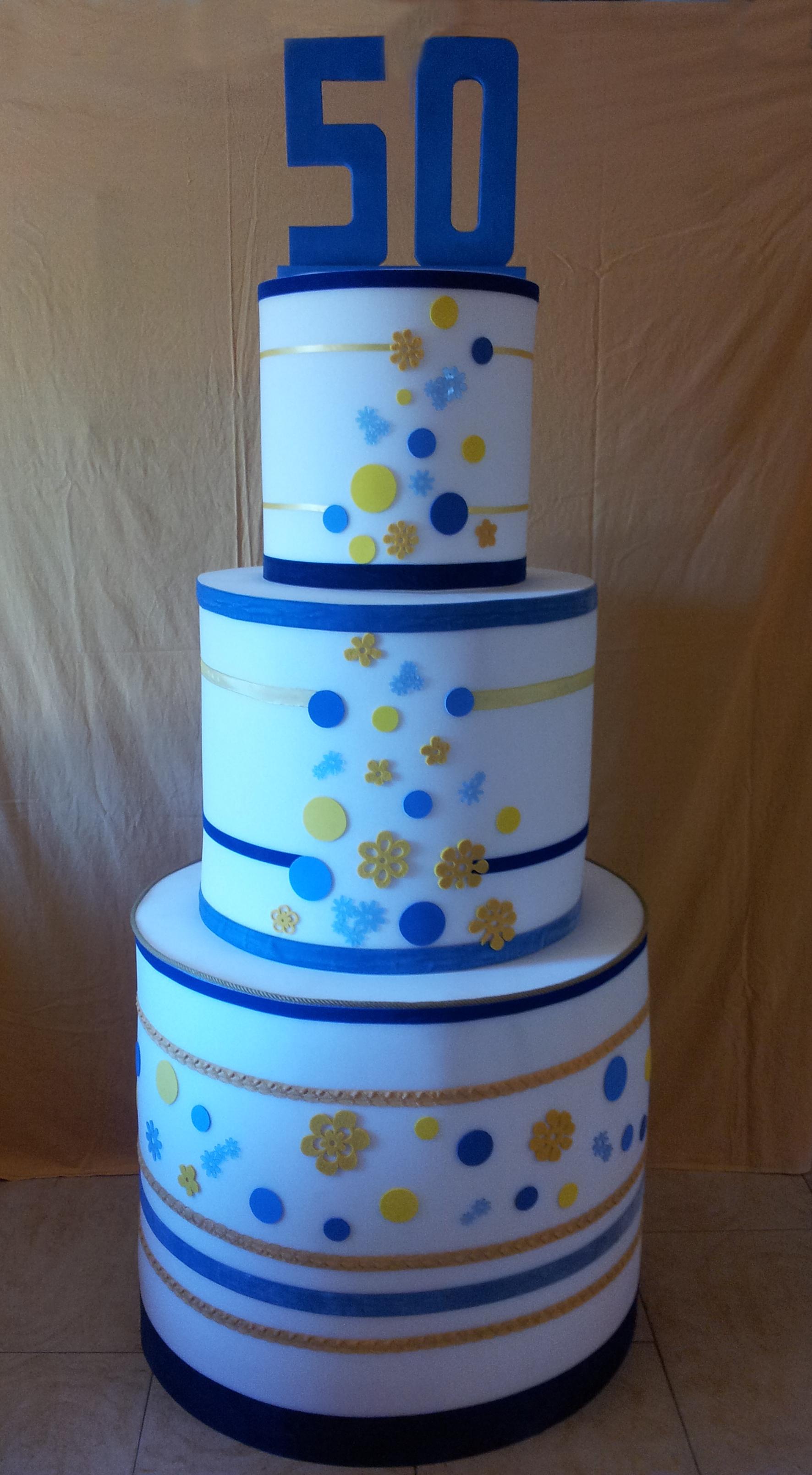 Bien-aimé Torta 50 anni in blu | Almaloca HA26